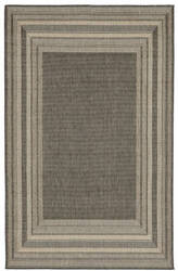 Trans-Ocean Terrace Etched Border 2761/67 Grey Area Rug