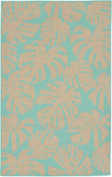 Trans-Ocean Terrace Fronds 2774/93 Turquoise Area Rug