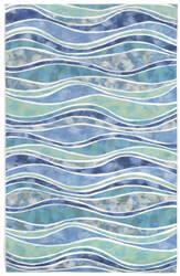 Trans-Ocean Visions Iii Wave 3126/04 Ocean Area Rug