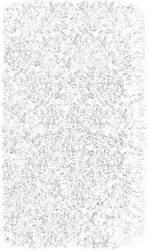 The Rug Market America Kids Shaggy Raggy  02204 White Area Rug