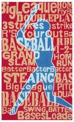 The Rug Market America Kids Batter Up! 11787 Red/blue Area Rug