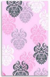 The Rug Market America Kids Brocade Pink 12363 Pink/black/white Area Rug