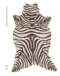 The Rug Market America Resort Zebra Brown Shaped 25255 Brown/cream Area Rug
