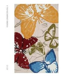 The Rug Market America Resort Monarch Butterflies 25328 Red/blue/green Area Rug
