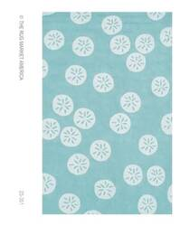 The Rug Market America Resort Sand Dollar Blue 25351 Aqua/white Area Rug