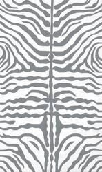 The Rug Market America Resort Zebra Grey 25354 Grey/white Area Rug