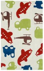 The Rug Market America Kids Voyage Cream 74028 Red/green/cream Area Rug