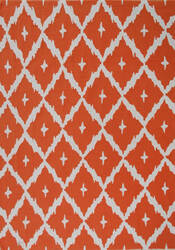 The Rug Market America Pop Accents Tangier Orange/White Area Rug