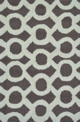 The Rug Market America Pop Accents Medal Taupe/White Area Rug