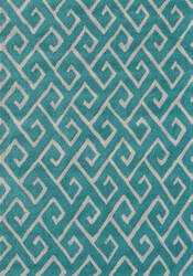 The Rug Market America Pop Accents Greek Blue/White Area Rug