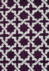 The Rug Market America Pop Accents Etchy Aubergine/White Area Rug