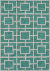 The Rug Market America Pop Accents Larson Teal/White Area Rug