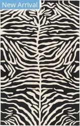 Rugstudio Sample Sale 150309R Black - Ivory Area Rug
