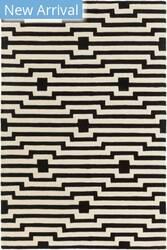 Rugstudio Sample Sale 137580R Black - Ivory Area Rug