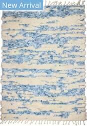 Bashian Shaggy S168-Bnsh10 Ivory - Blue Area Rug