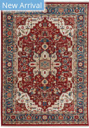 Capel Alden-Medallion 3943 Classic Red Area Rug