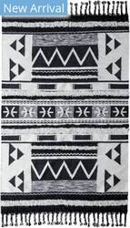 Classic Home Moroccan 3006 Ivory - Black Area Rug
