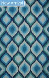 Company C Colorfields Lapis 10711 Blue Area Rug