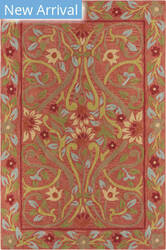 Company C Colorfields Jaipur Garden 19300 Red Area Rug