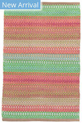 Rugstudio Sample Sale 158935R Pink - Green Area Rug