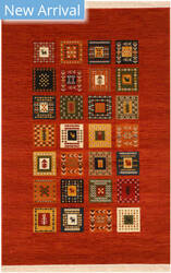 Eastern Rugs Gabbeh Do10rt Rust Area Rug