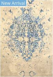 Eastern Rugs Moderno Medallion Fl15bl Blue Area Rug