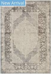 Eastern Rugs Moderno Medallion Fl16gy Gray Area Rug