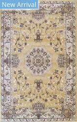Eastern Rugs Tabriz Fl51gd Gold Area Rug