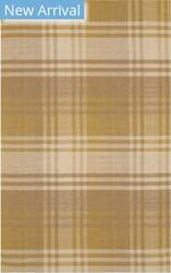 Eastern Rugs Plaid T176yl Yellow Area Rug