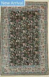 Eastern Rugs Sino-Persian Yz575 Black Area Rug