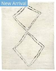 Exquisite Rugs Moroccan Hand Woven 3853 Ivory - Black Area Rug