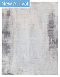 Exquisite Rugs Amber Hand Knotted 4221 Silver - Blue Area Rug