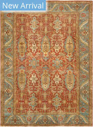 Famous Maker Sultanabad P-1 Rust - Light Blue Area Rug