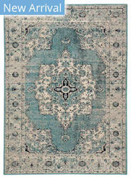 Famous Maker Pedrine Galena Prd-1020 Turquoise - Gray Area Rug