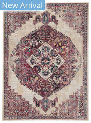 Famous Maker Pedrine Mica Prd-1040 Purple - Cream Area Rug