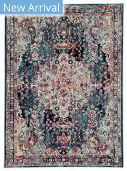 Famous Maker Pedrine Chamiel Prd-1090 Teal - Turquoise Area Rug