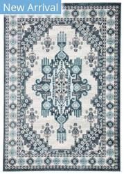 Famous Maker Valarie Drishti Val-1010 Turquoise - White Area Rug