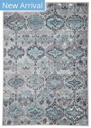 Famous Maker Valarie Souta Val-1090 Gray - Turquoise Area Rug