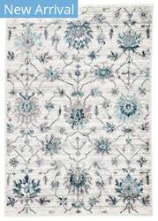 Famous Maker Valarie Alizeh Val-1120 White - Teal Area Rug