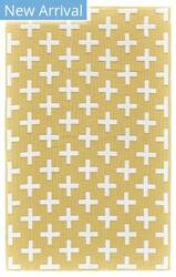 Feizy Aubrey I4801 Yellow - White Area Rug