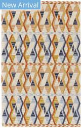 Feizy Fariza I8014 Orange - Blue Area Rug
