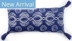 Jaipur Living Cosmic By Nikki Chu Pillow Satin Cnk65 Blue - White