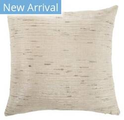 Jaipur Living Mandarina Pillow Metallic Mdr17 Silver - Cream Area Rug