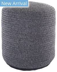 Jaipur Living Montauk Pouf Bridgehampton Mot01 Dark Gray