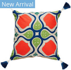 Jaipur Living Verdigris Pillow Alleana Ved04 Multicolor - Beige