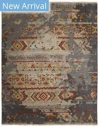 Famous Maker Soumak 100494 Zinc/Desert Sunset Area Rug