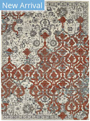 Karastan Soiree Bellini Alabaster - Grey Area Rug