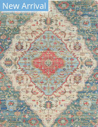 Kas Morris 2223 Blue-Red Area Rug