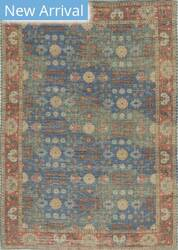 Kas Morris 2227 Blue-Red Area Rug