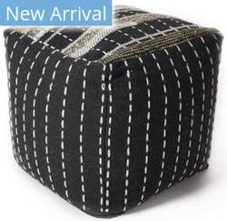 Kas Pouf F860 Black Area Rug